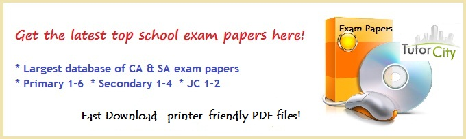 singapore secondary school exam papers download